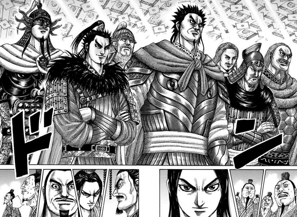 勢ぞろいする秦国の将軍達